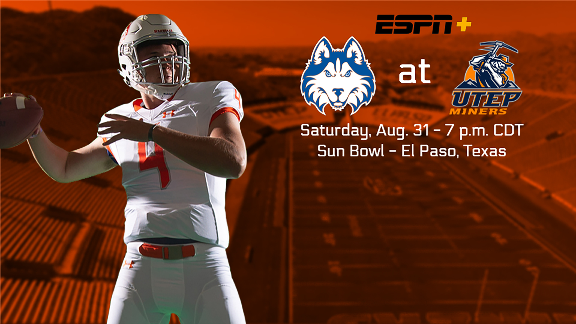 save off 3246a ac0b9 FB: Huskies Open With FBS Matchup at UTEP - Houston Baptist ...